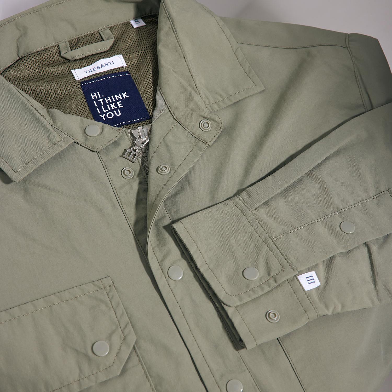 Memphis   Jacket cargo pockets olive