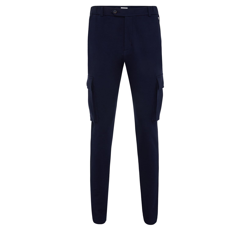 Malone | Pantalon with cargo pockets navy