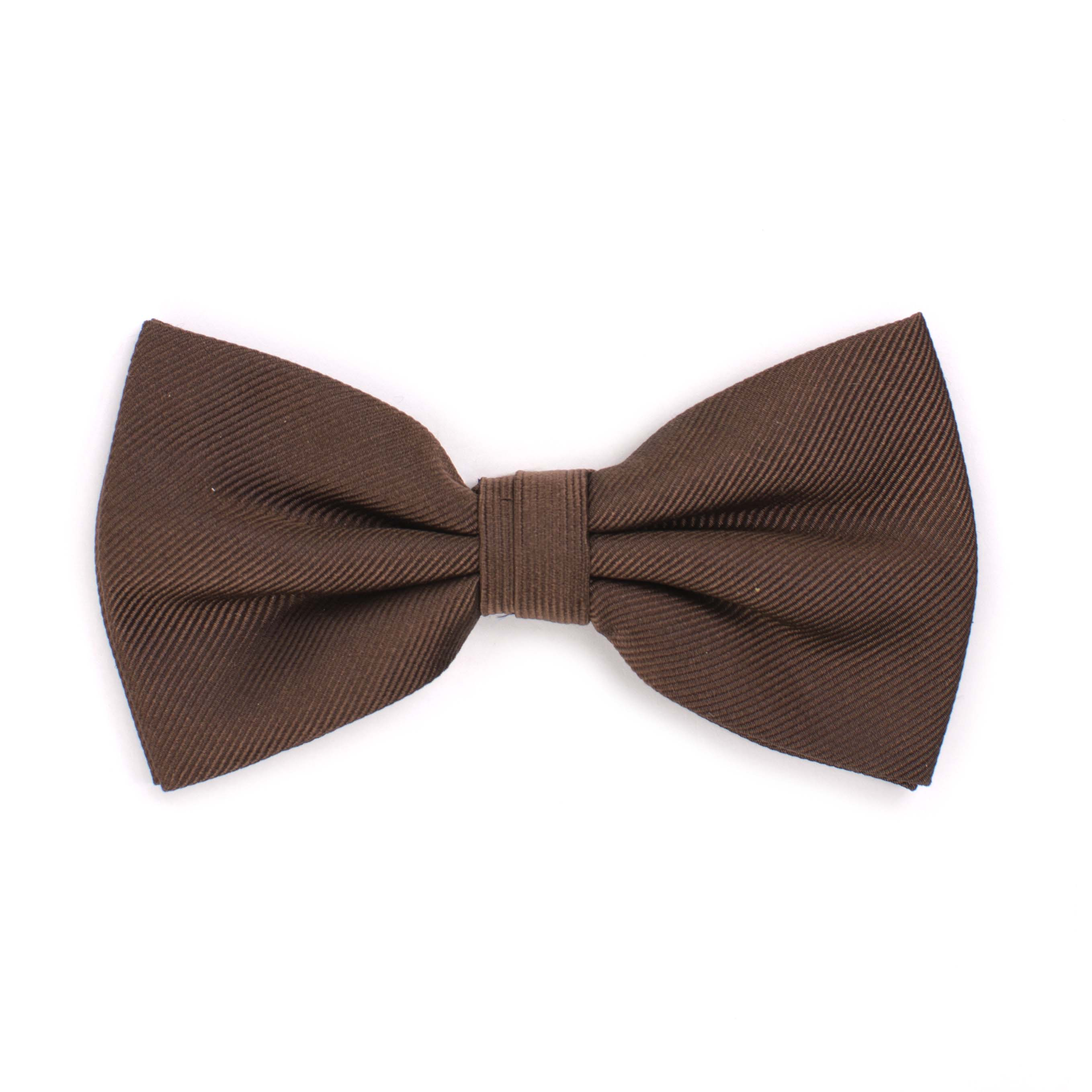 Bow tie classic ribbed brown