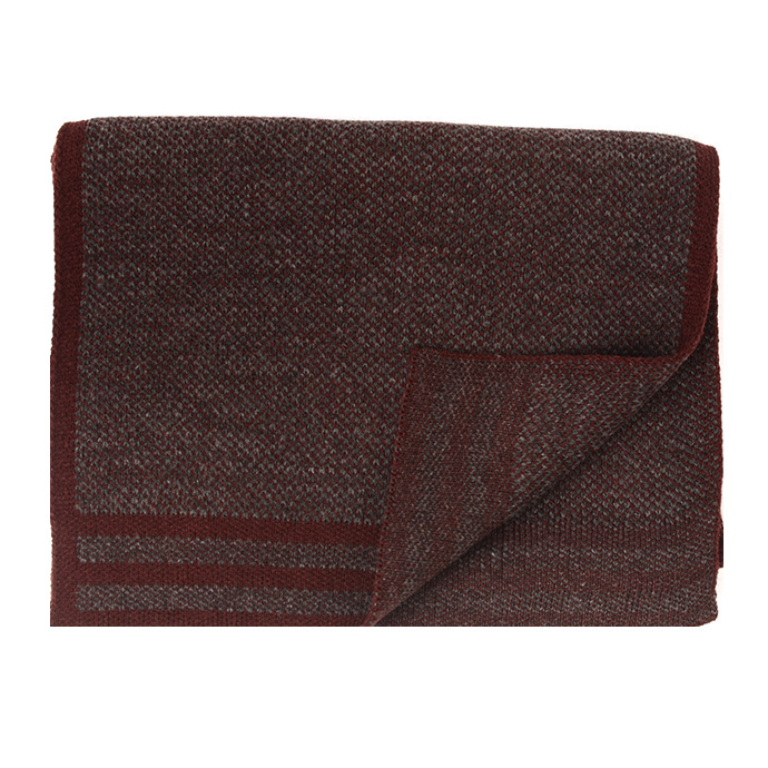 Jowin   Scarf knitted with colored border burgundy
