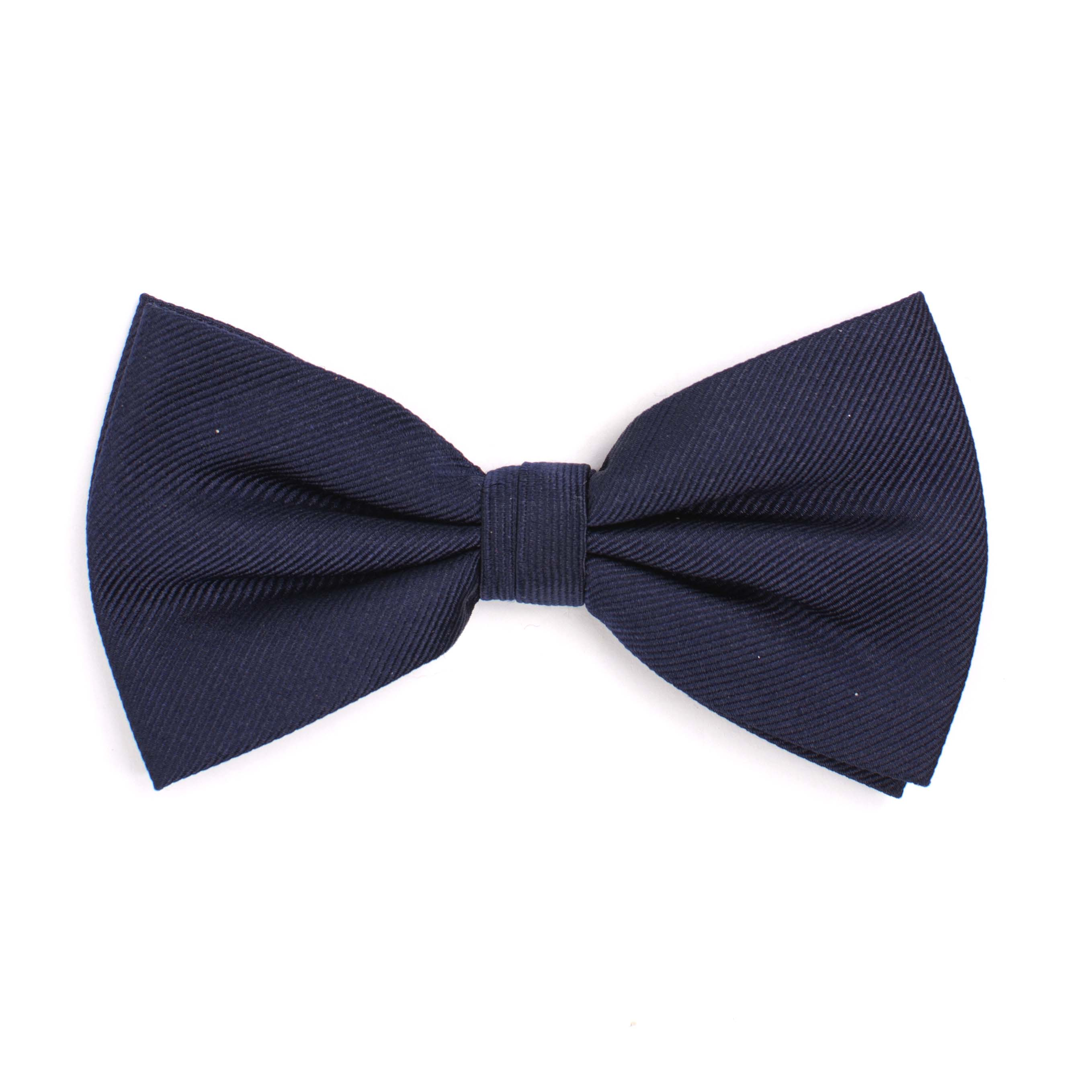 Bow tie classic ribbed navy