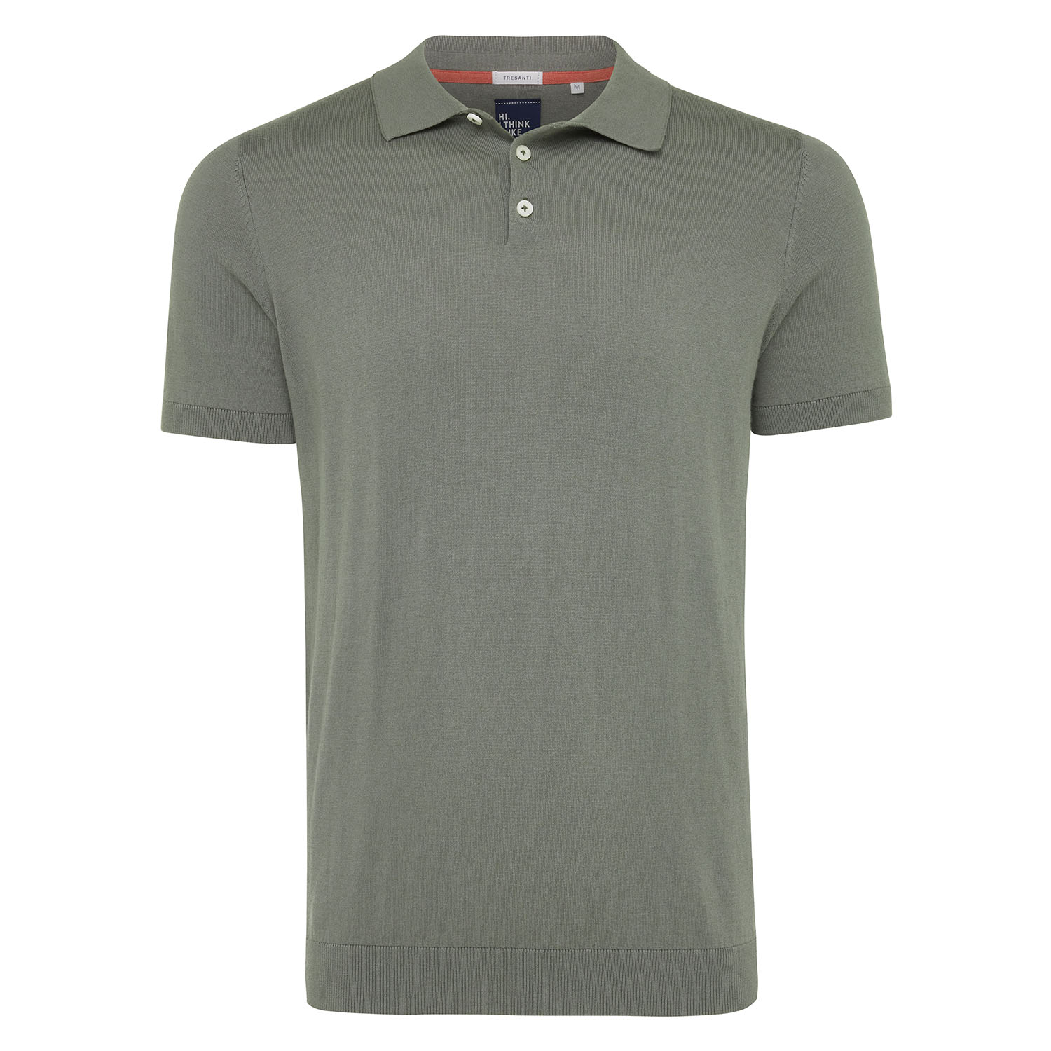Trevor | Pullover short sleeve cotton/cashmere avage green