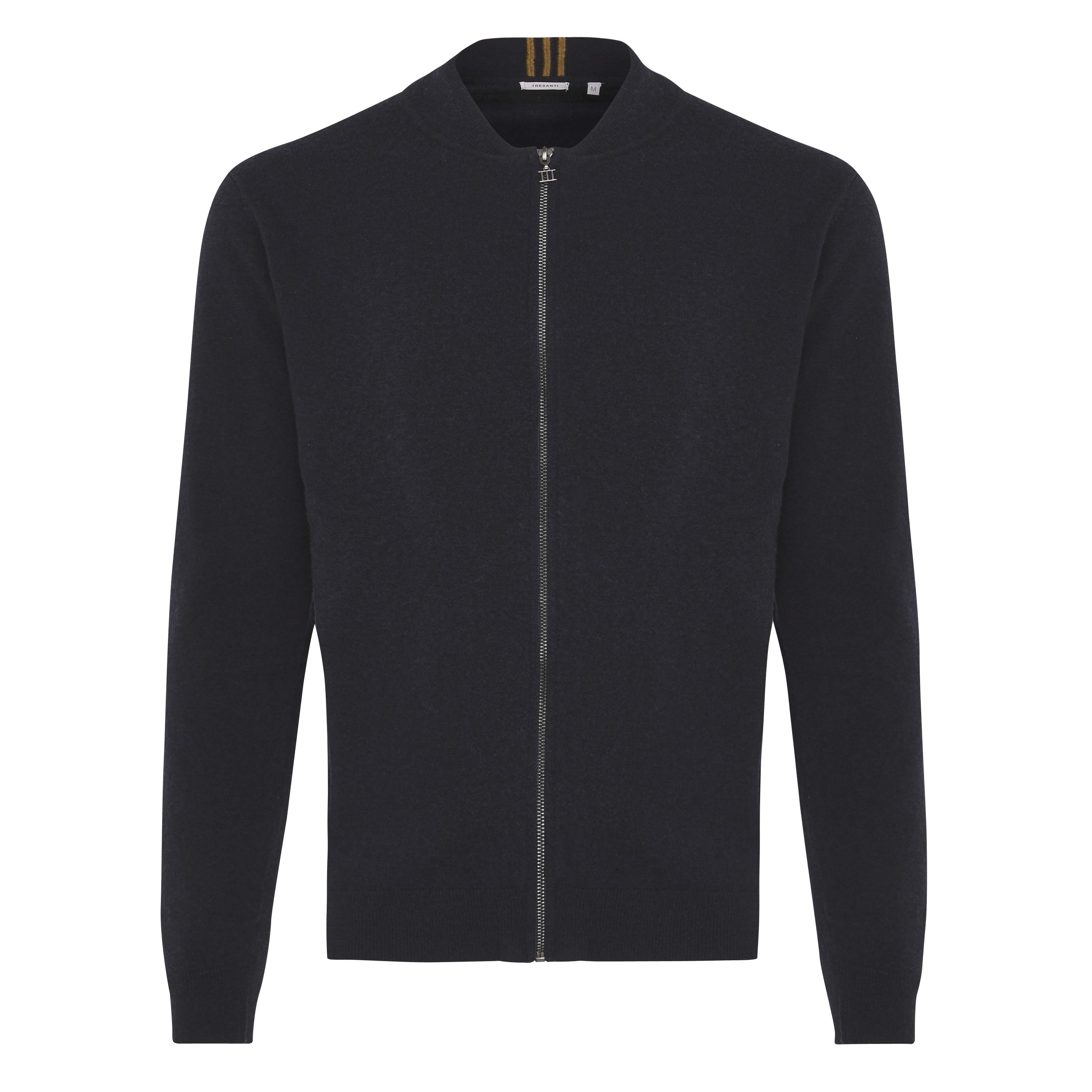 Jonathan   Pullover with zipper navy