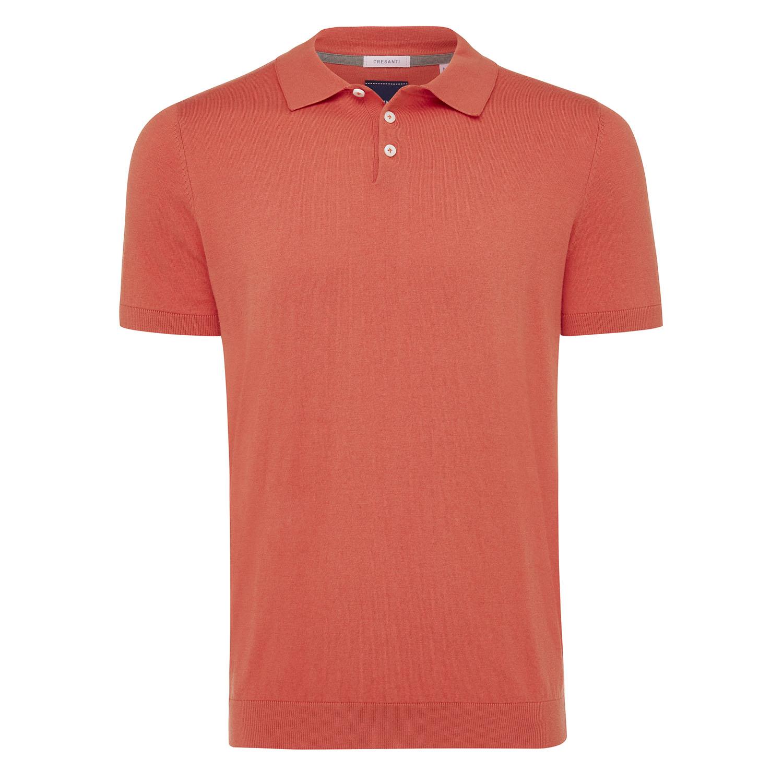 Trevor | Pullover short sleeve cotton/cashmere coral