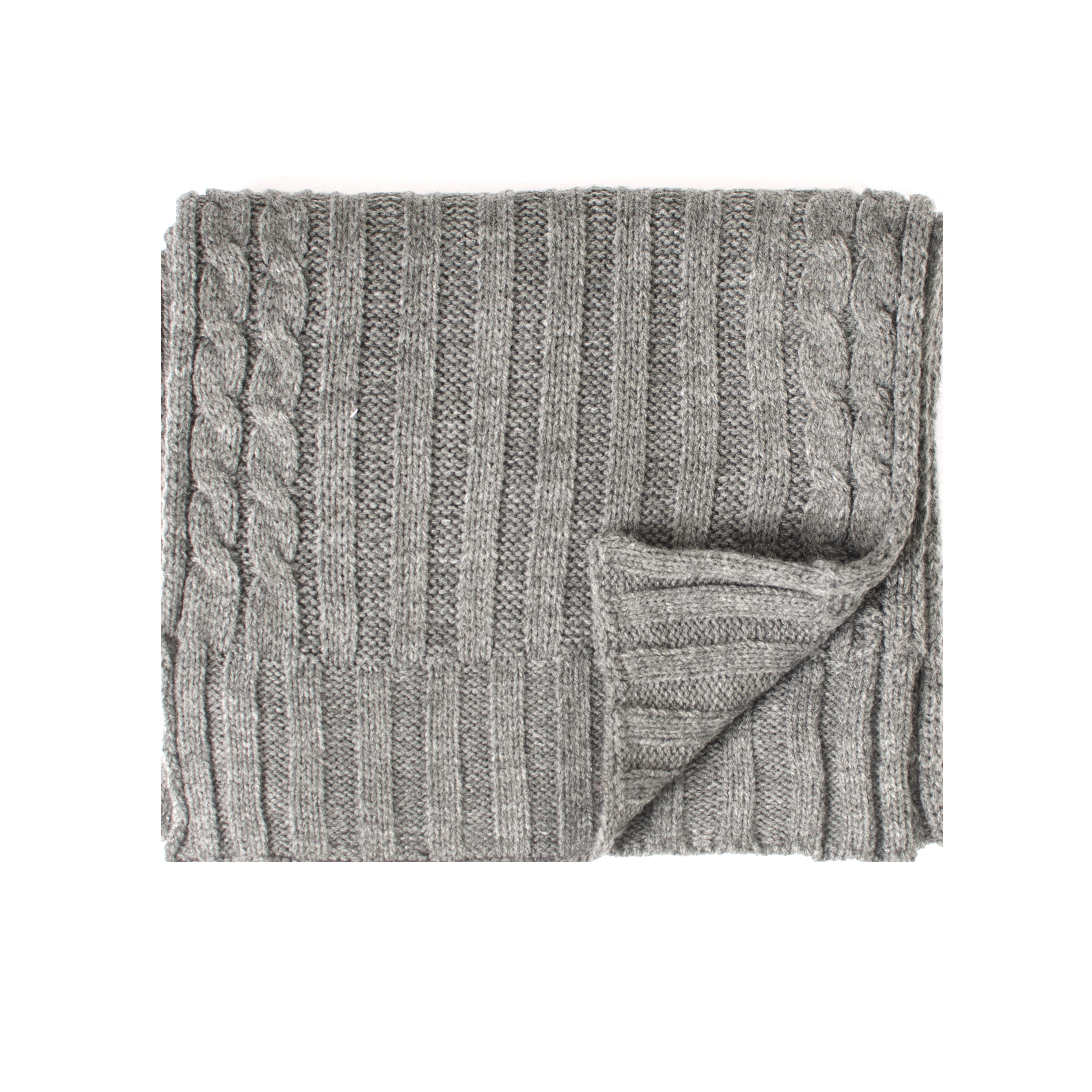 Josh | Scarf cable knitted in grey