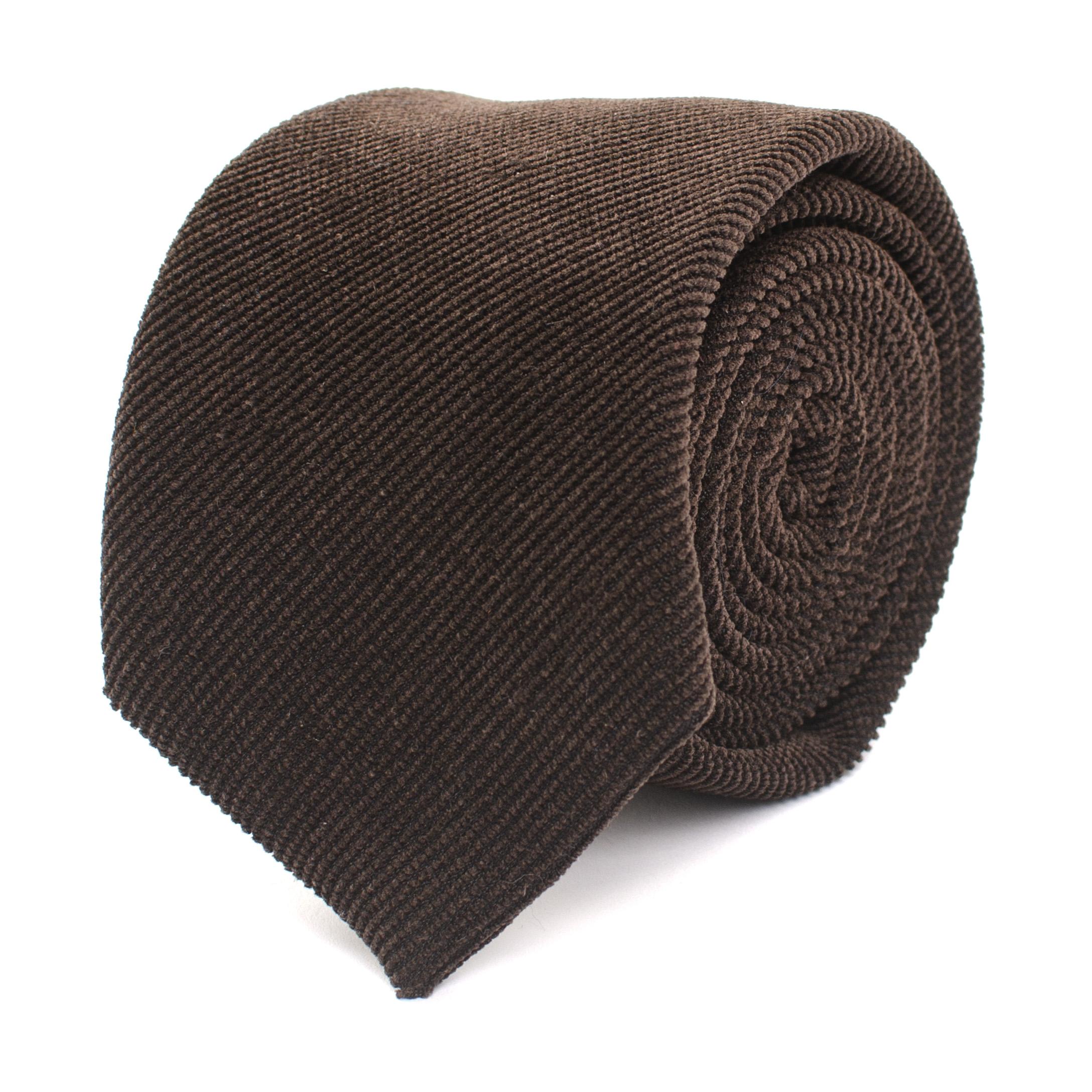 Jogchem | Corduroy tie brown