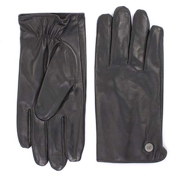 Gloves plain black goat leather