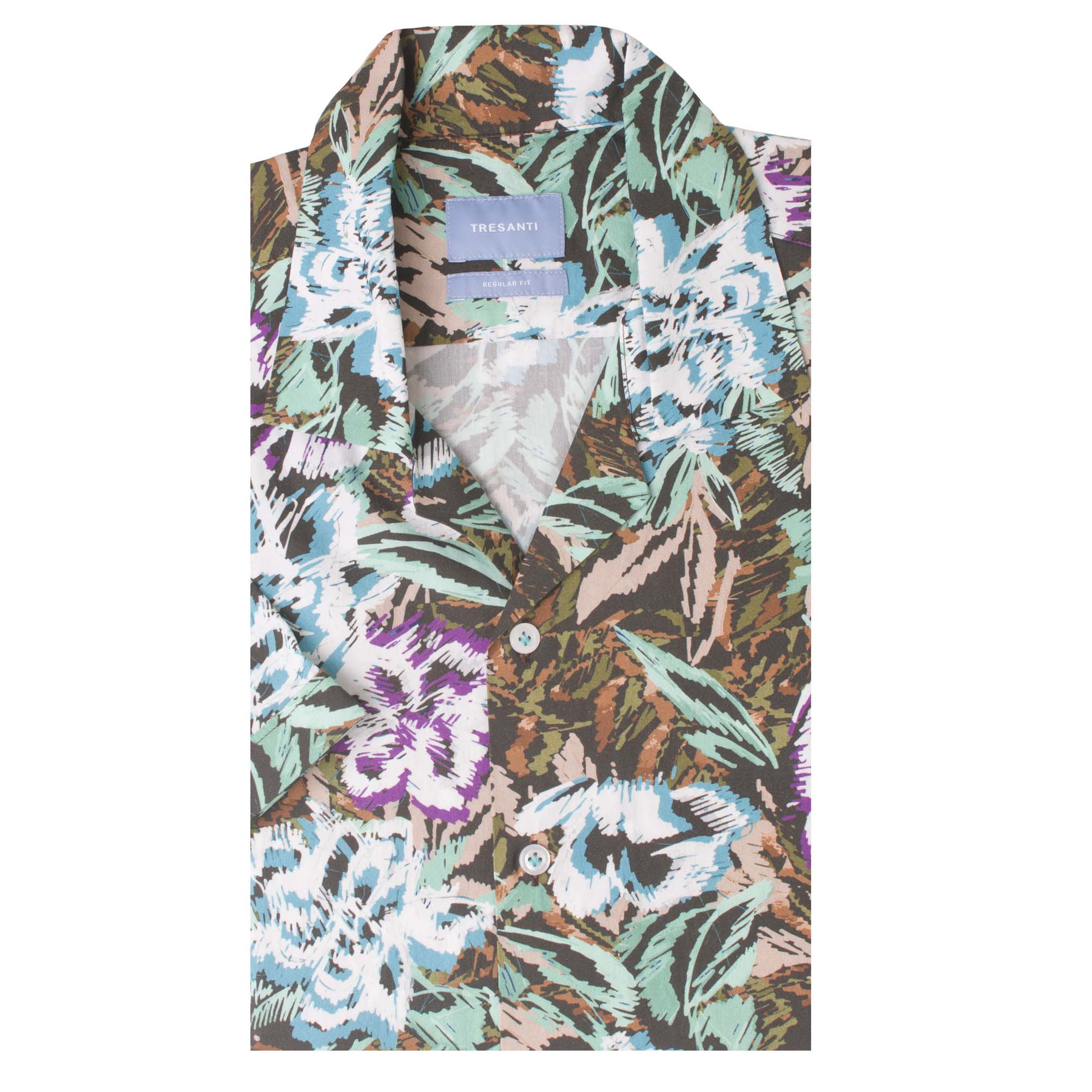 Tyrese   Shirt sketched flower print   SS