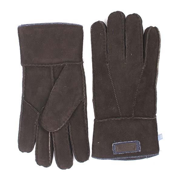 Gloves brown sheepskin