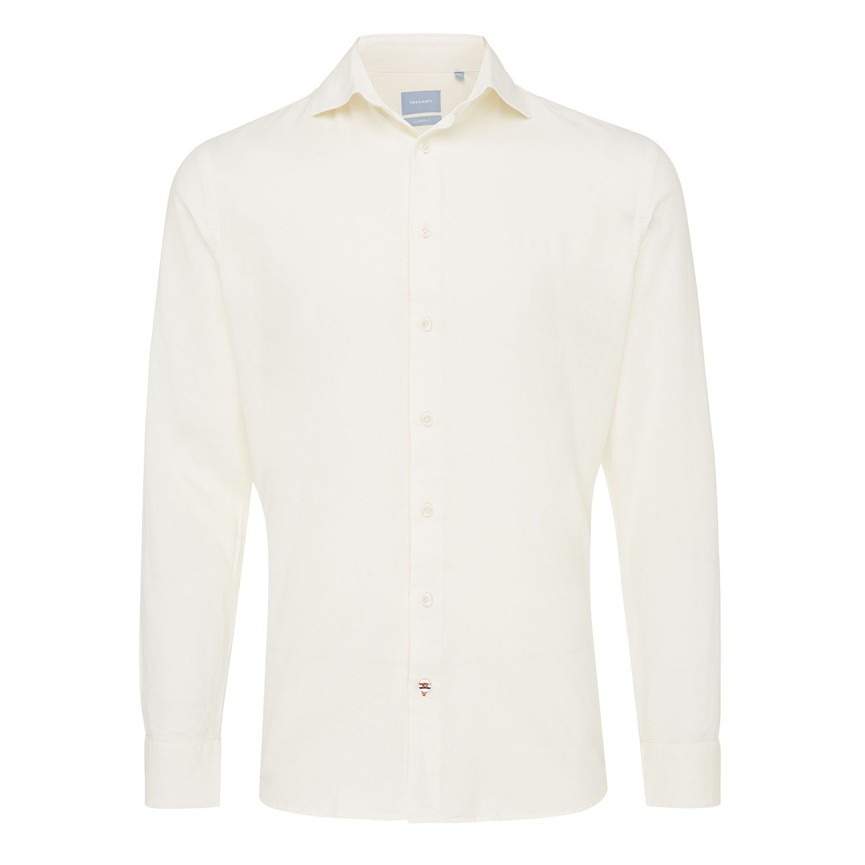 Maxim   Shirt cotton/linen beige