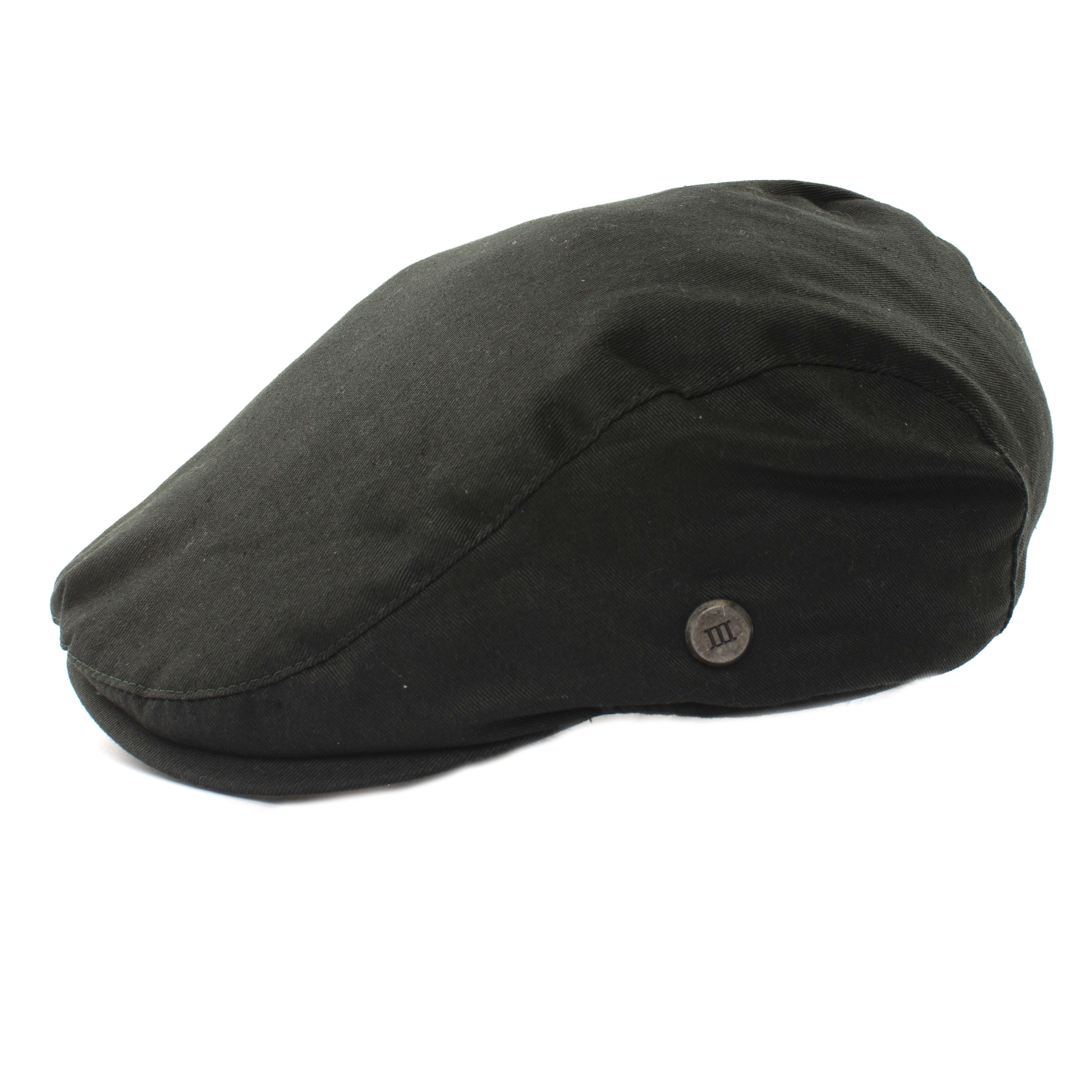 Army green twill  flatcap