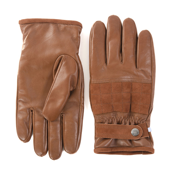 Gloves casual leather with suede