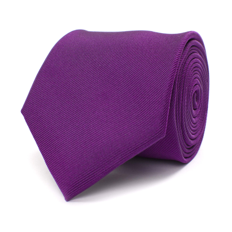 Tie classic ribbed purple