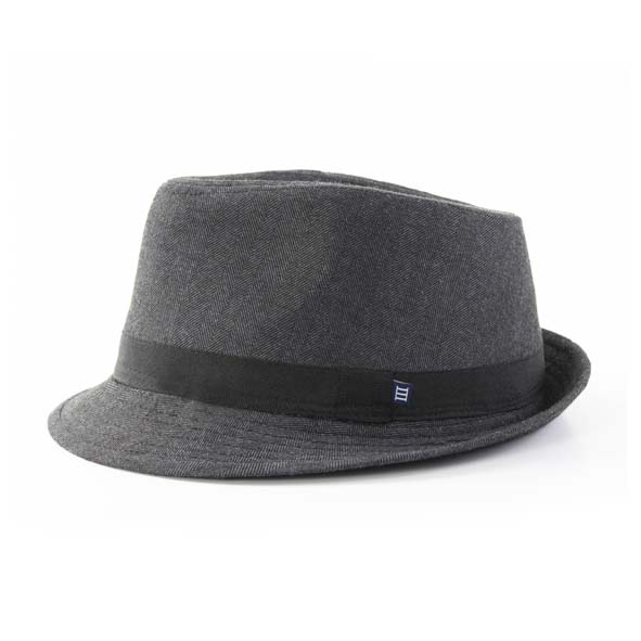 Hat grey, herringbone design