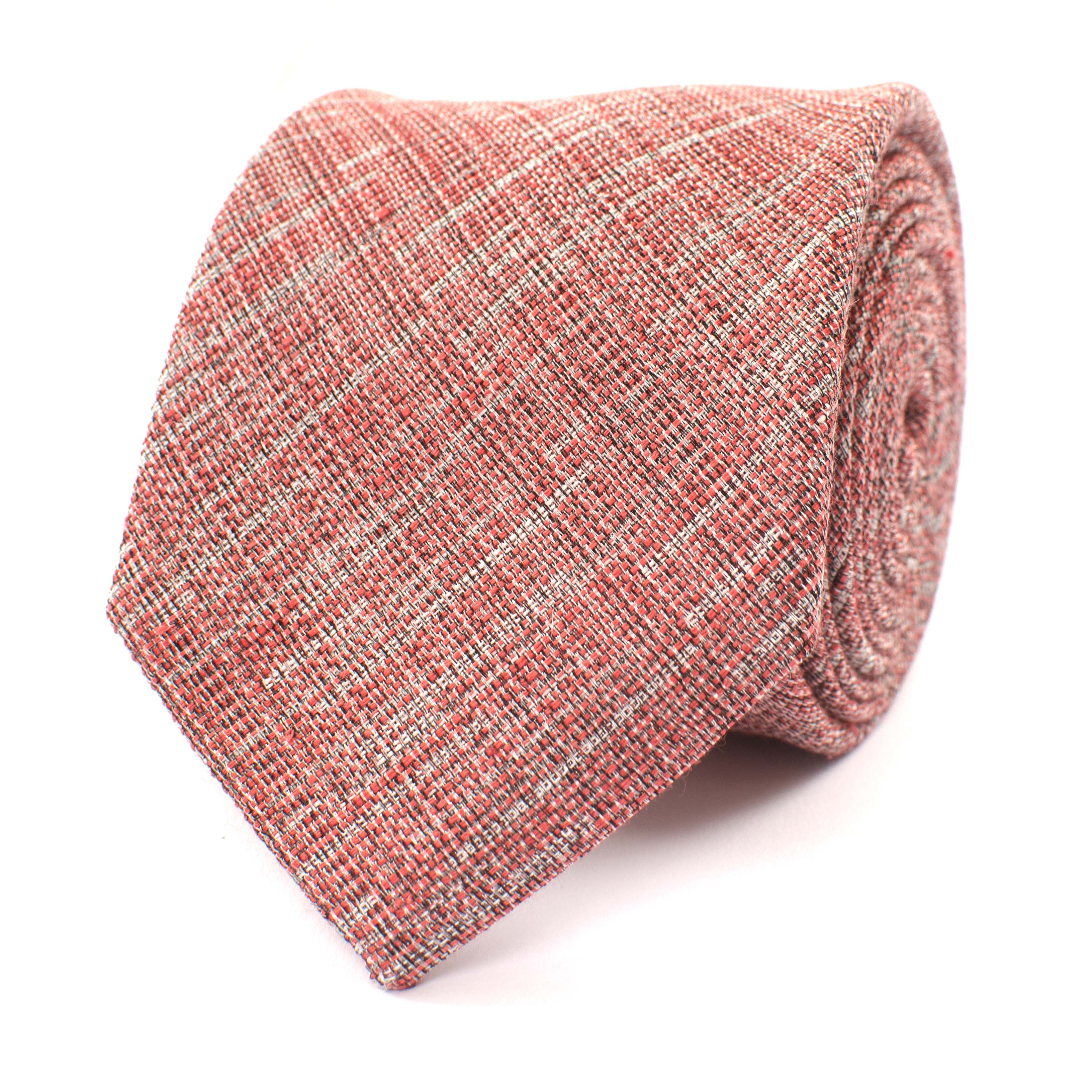Mika | Tie linen clay red