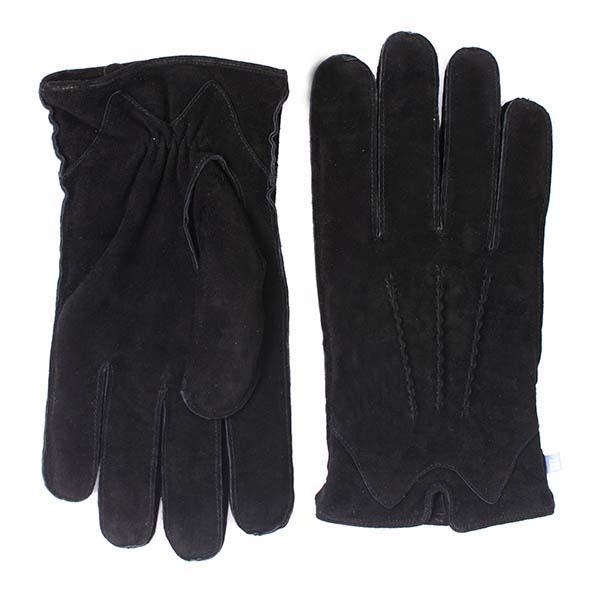 Black suede gloves