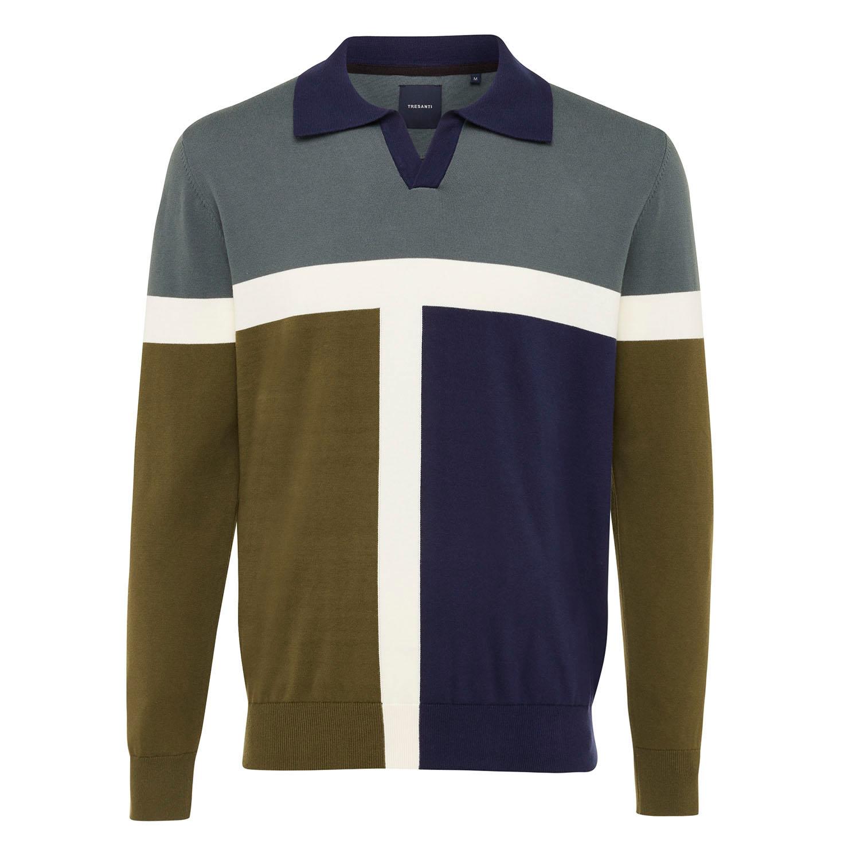ENZO   Colourblock pullover green