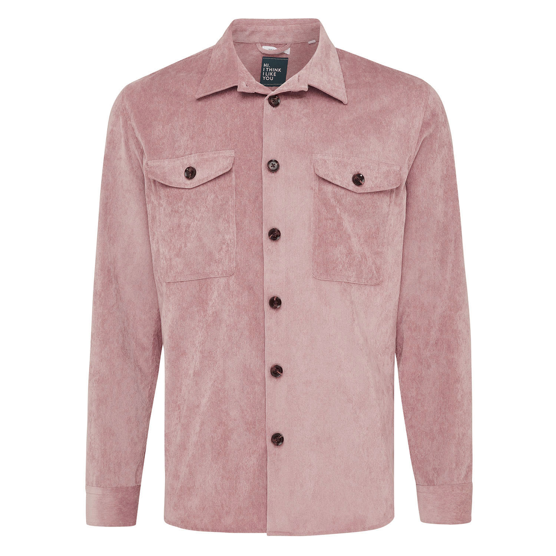 Matt   Overshirt rib pink
