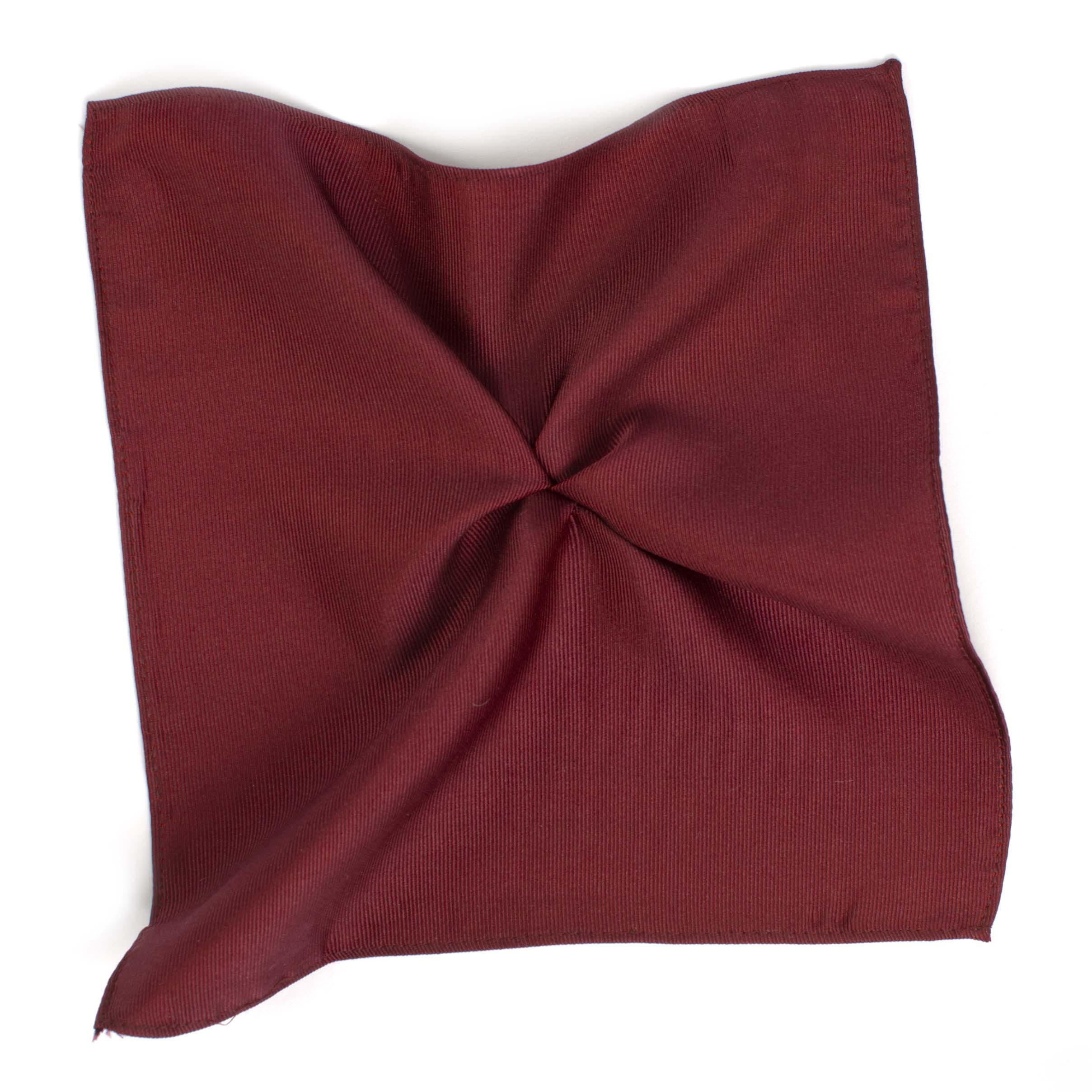 Pocket square classic burgundy ribbed