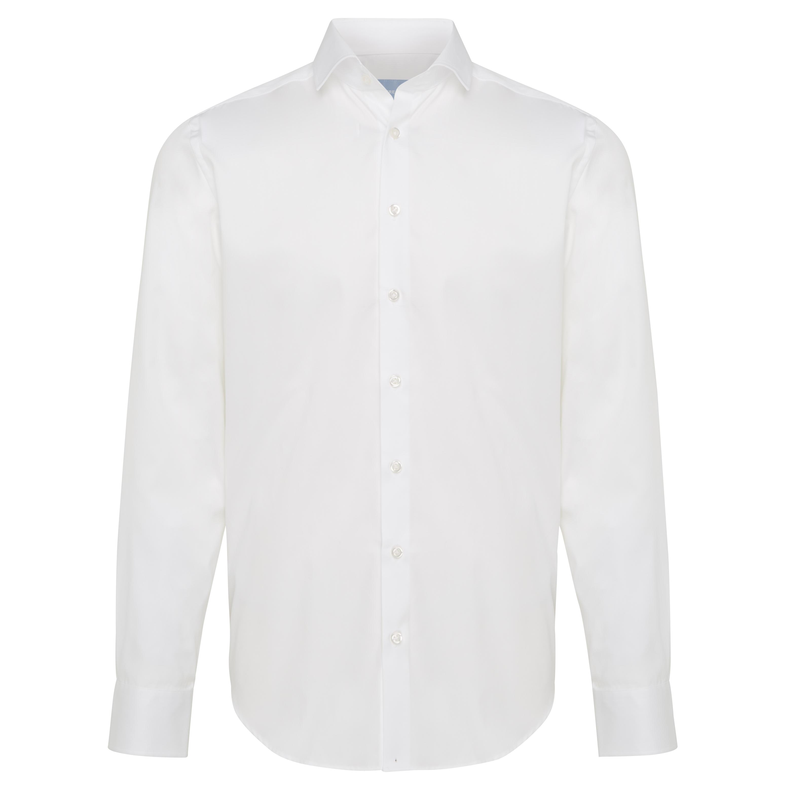 Non-iron shirt plain white - Regular Fit