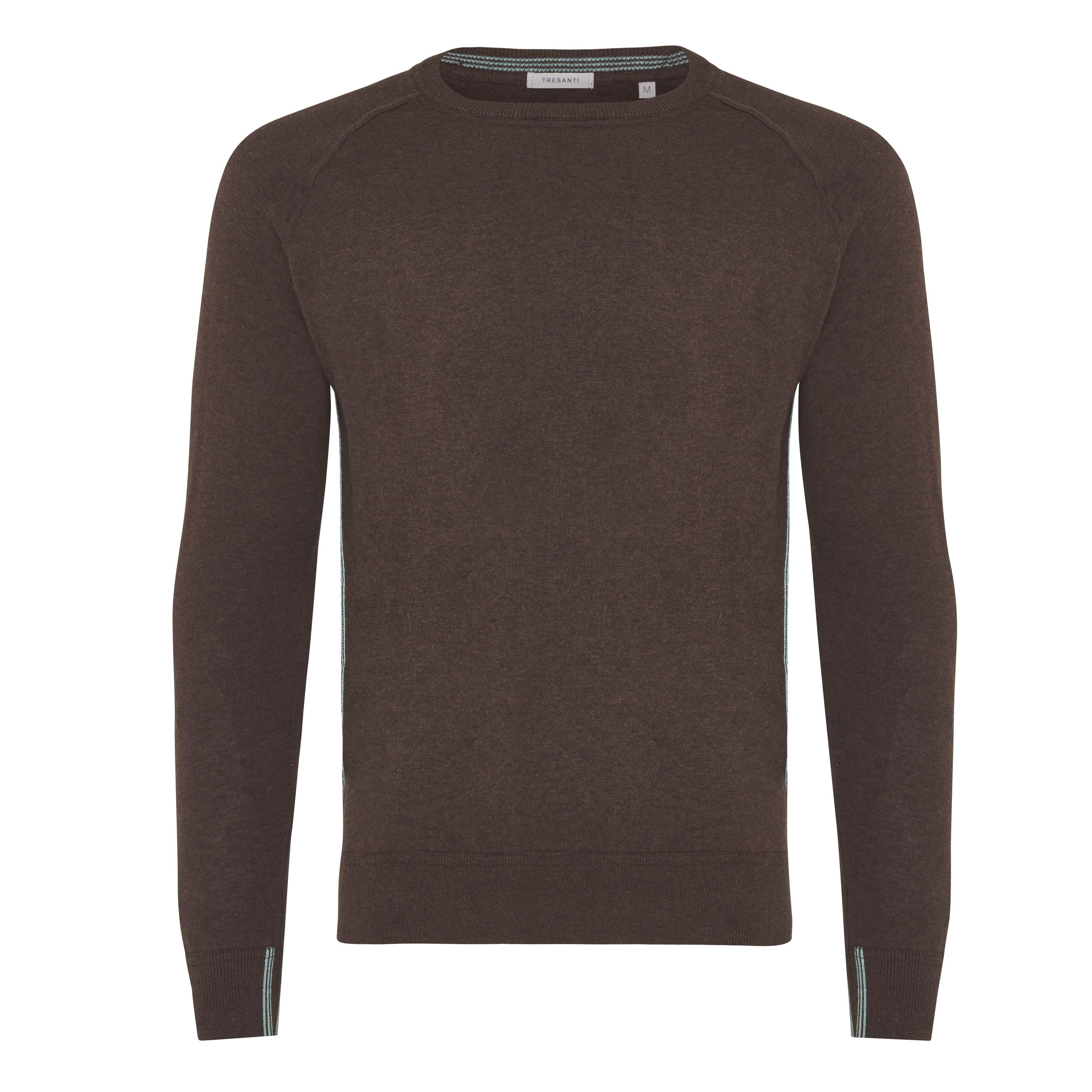 James | Pullover raglan brown