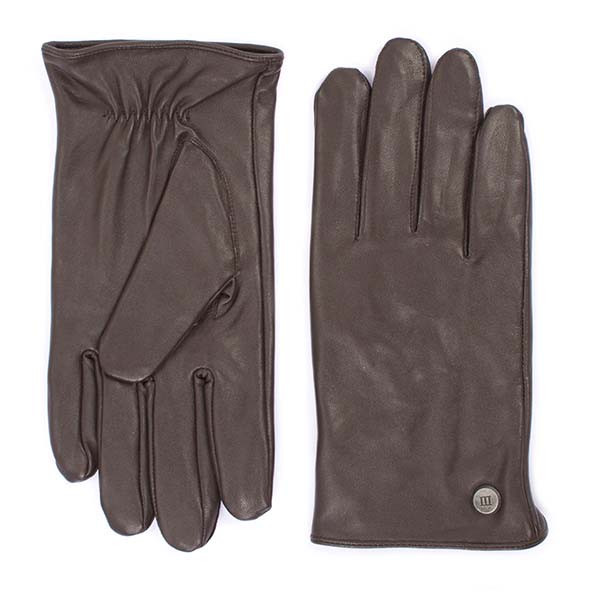 Gloves plain brown goat leather