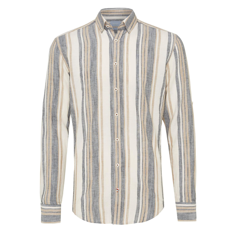 Mickey | Shirt multi stripe beige/indigo