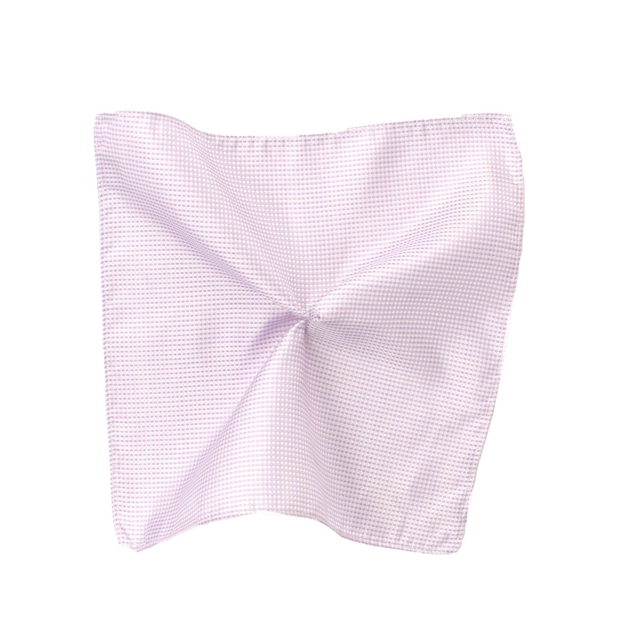 Pocket square silk lilac graphic design
