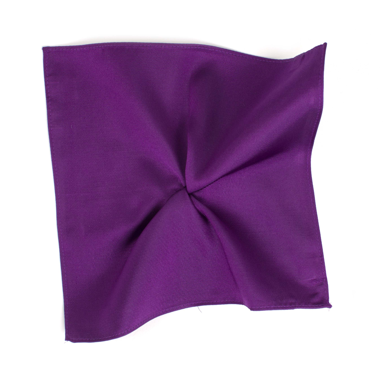 Classic purple ribbed pocket square