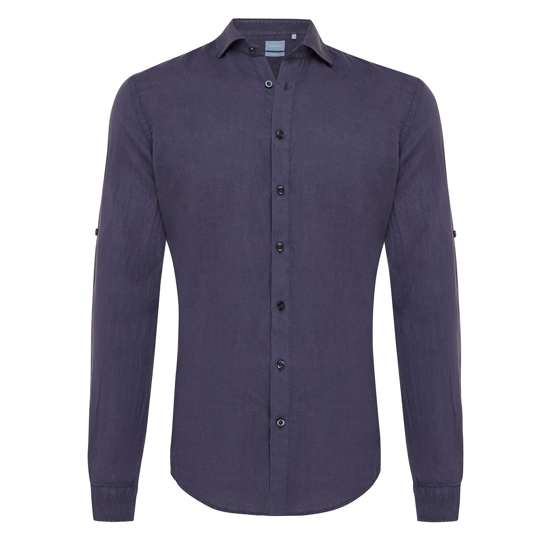 Tristan | Basic linen shirt navy