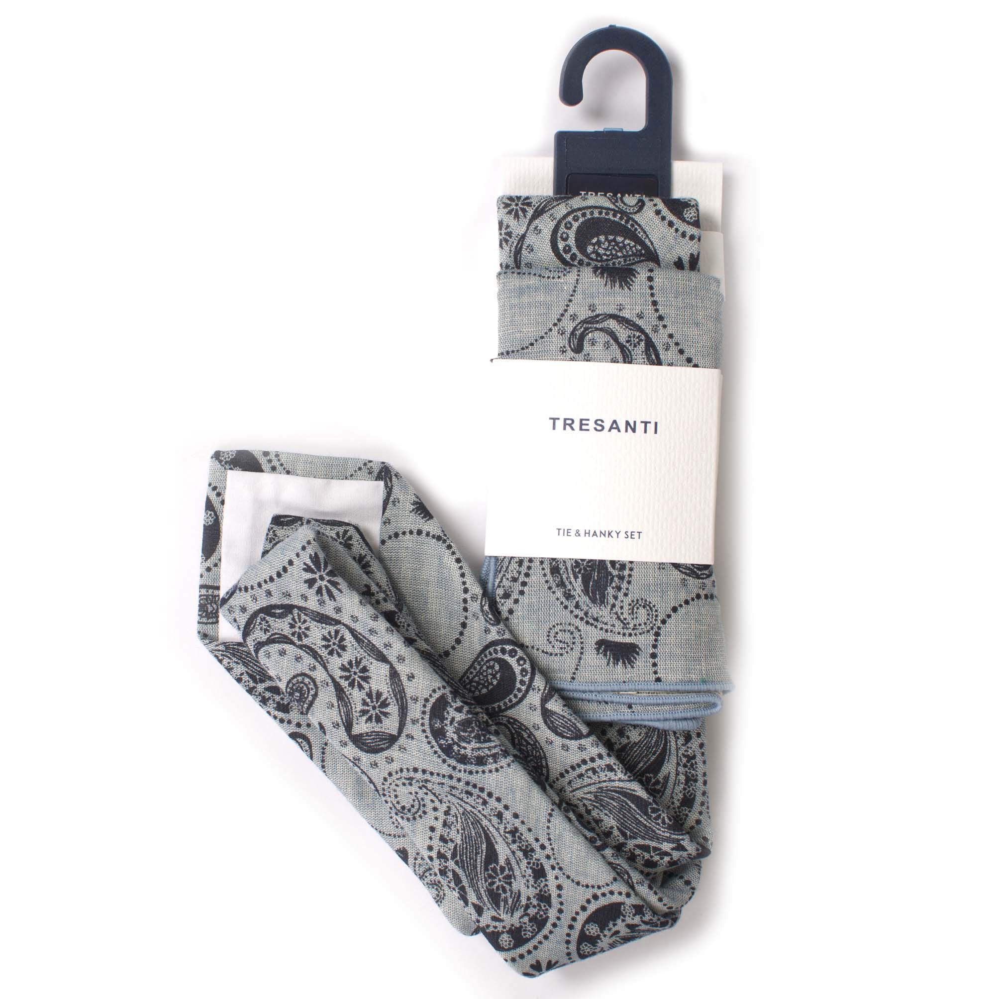 Tie & hanky set cotton paisely design