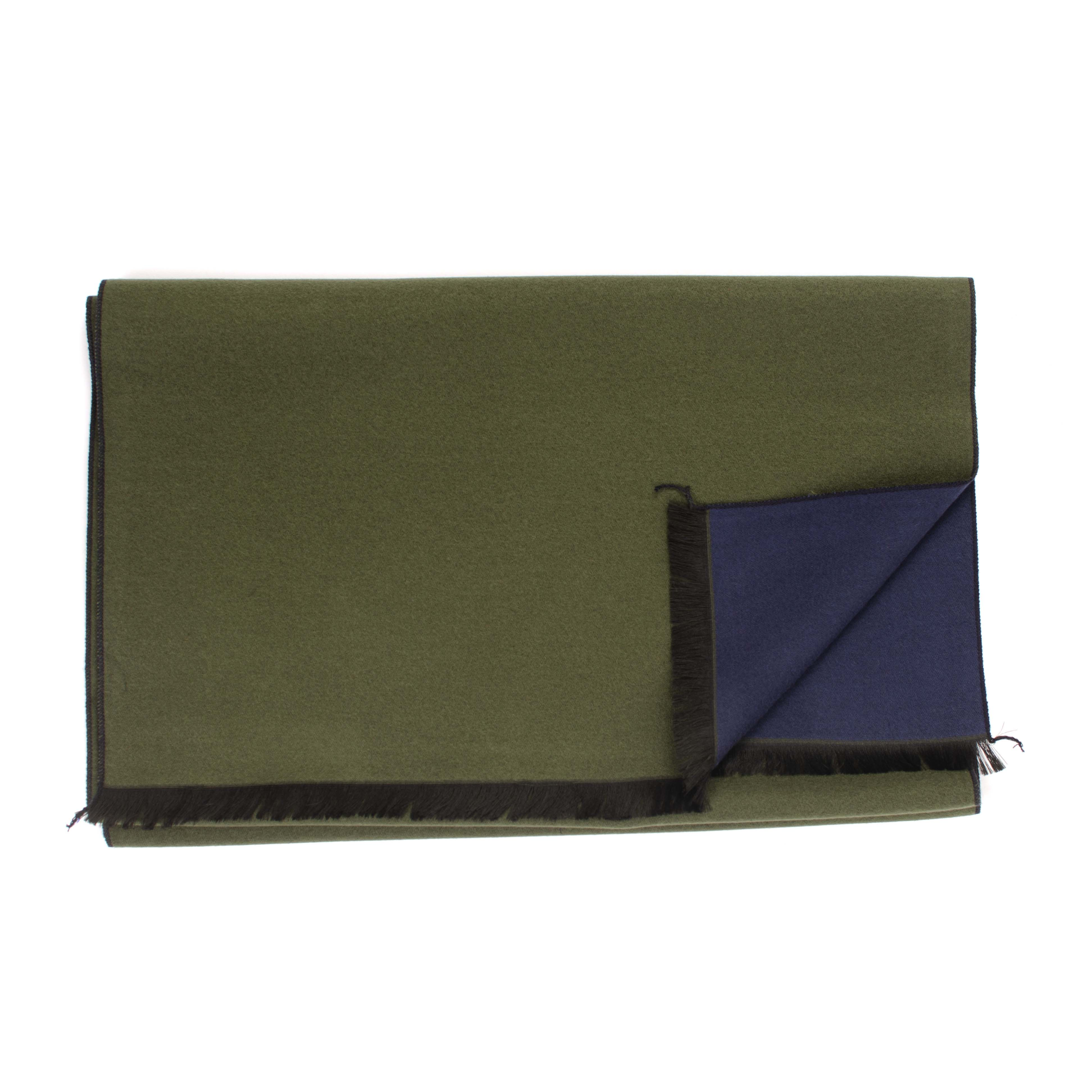 Jaevano | Scarf viscose double face in army green