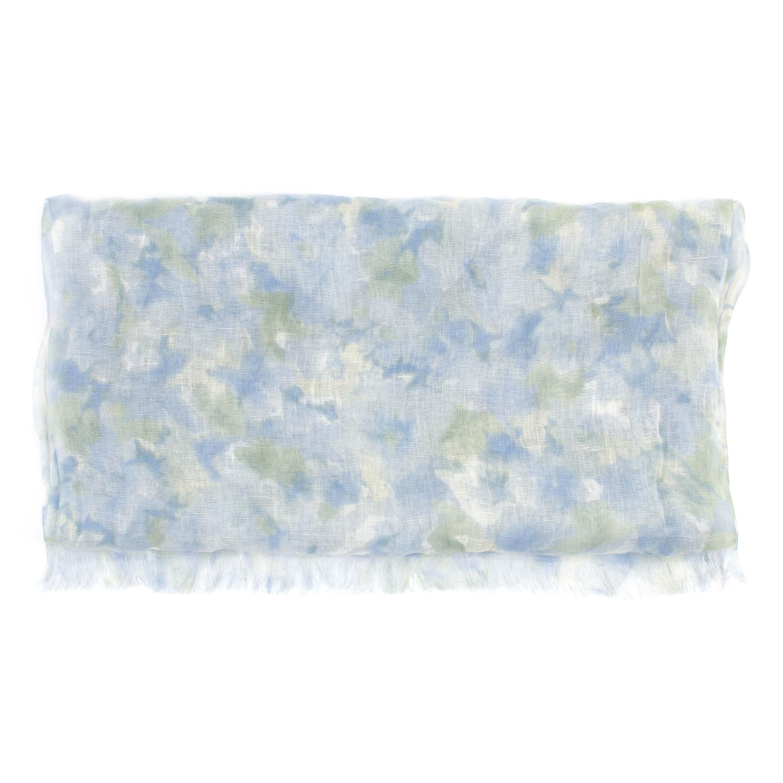 Scarf linen, blue/green