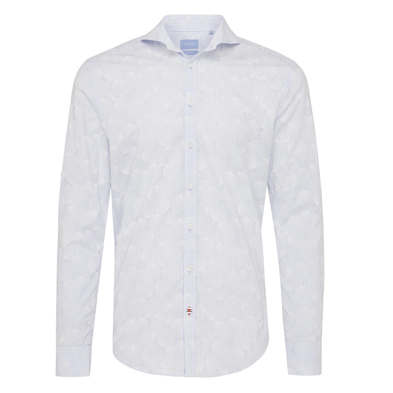 Mizan | Shirt stripe/flower blue