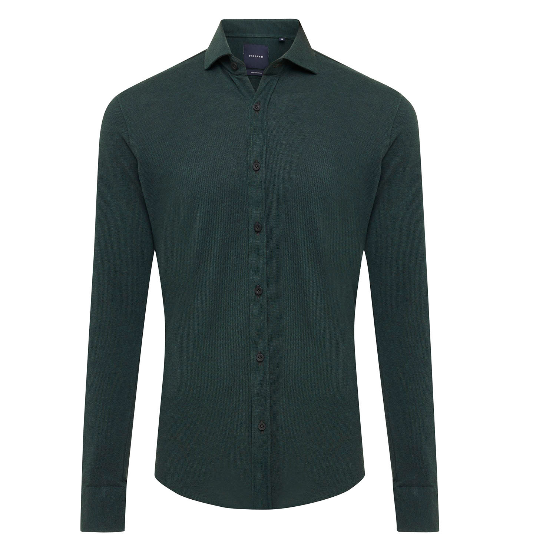 ELLIAS | Shirt with button closure, dark green