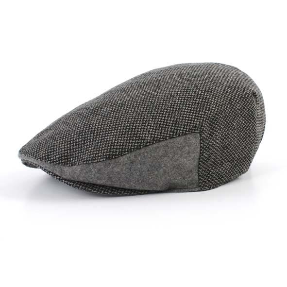 Flatcap, black/grey