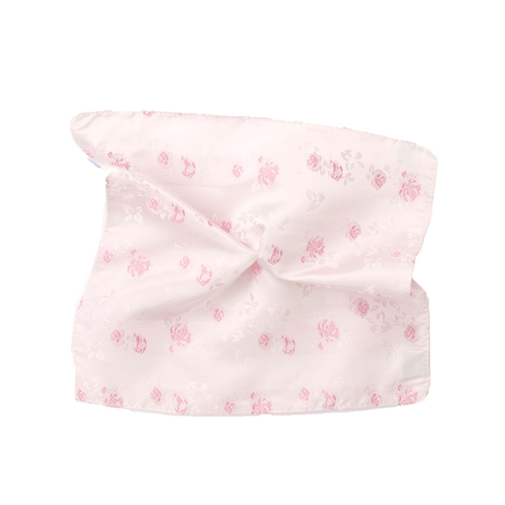 Pocket square silk pink flowers