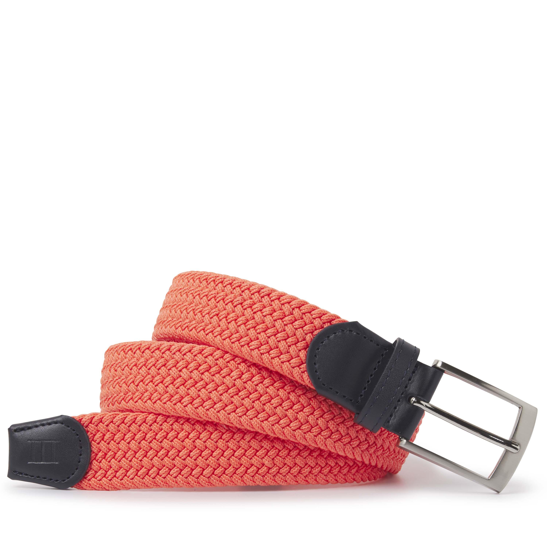 Tyrone | Belt braided coral
