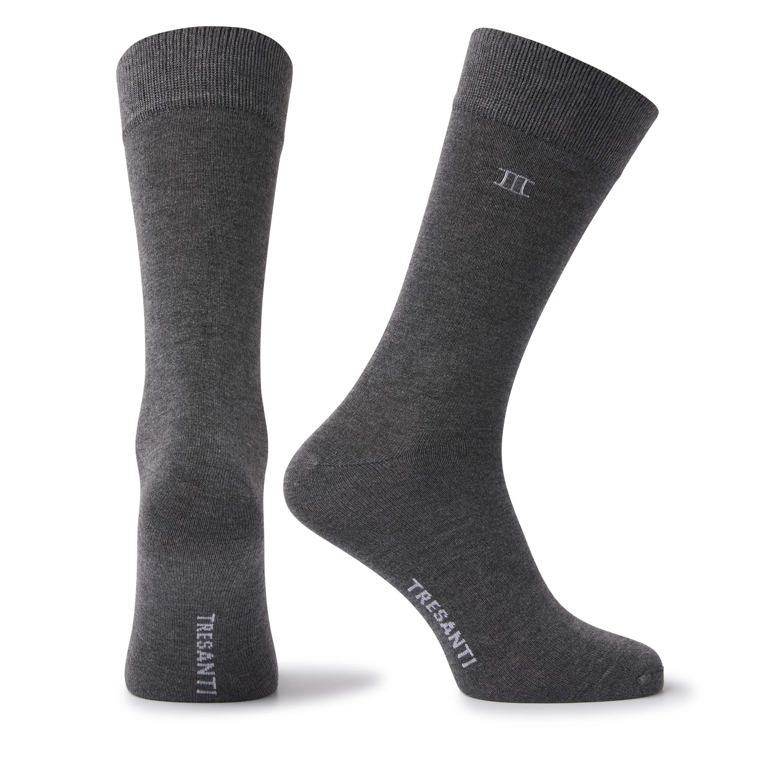 Socks bamboo melange grey