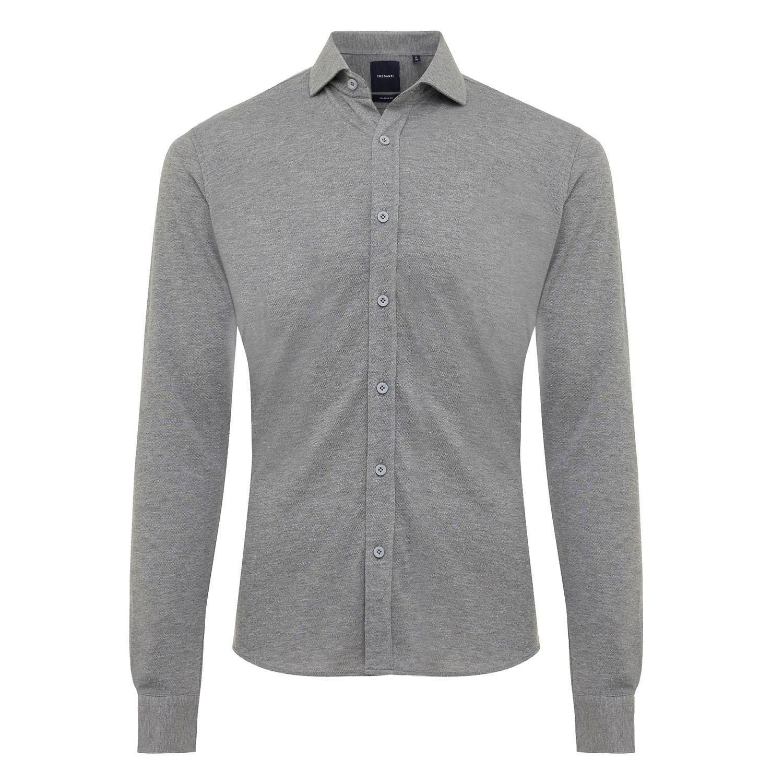 ELLIAS | Shirt with button closure, grey melange