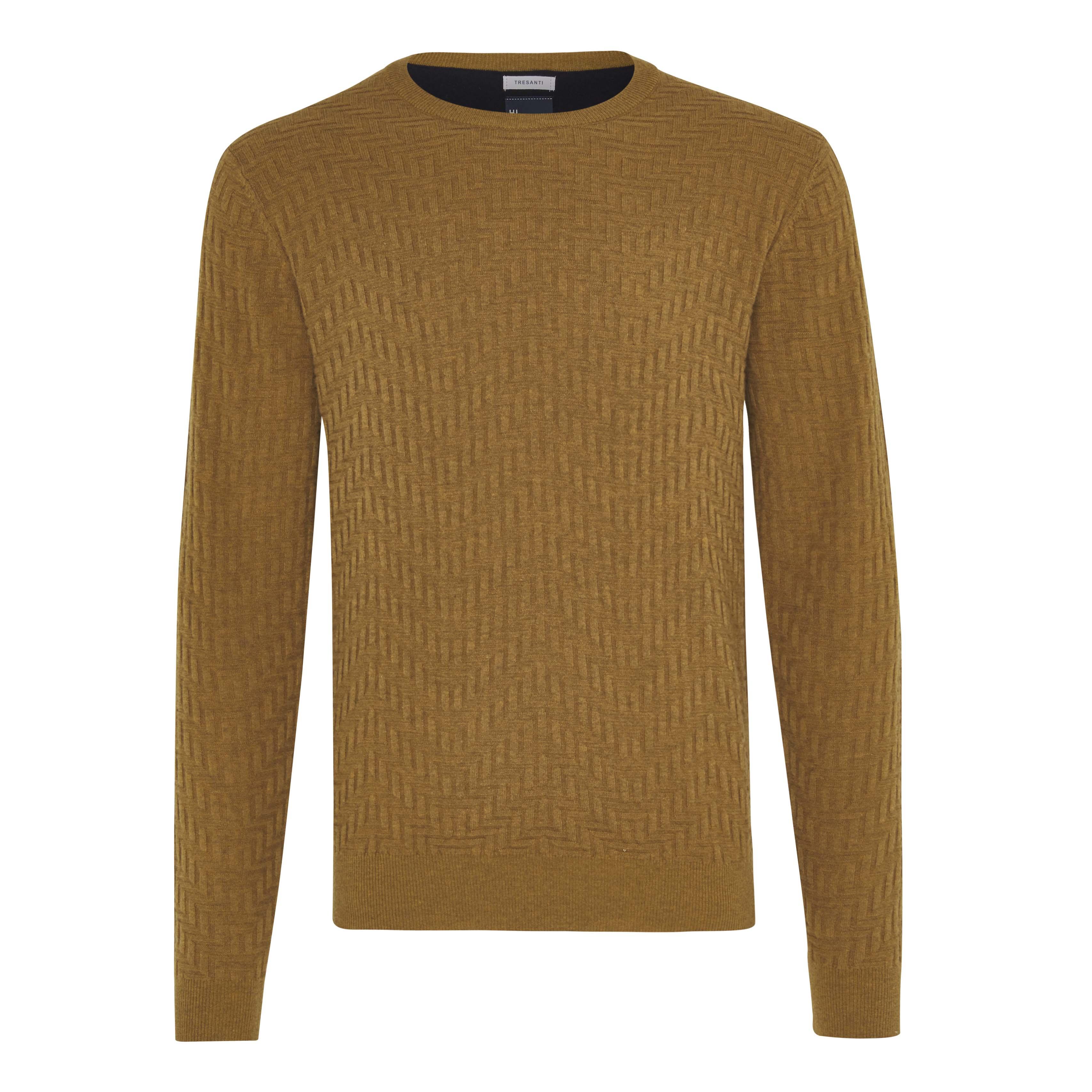 Jax | Pullover zigzag ocher yellow