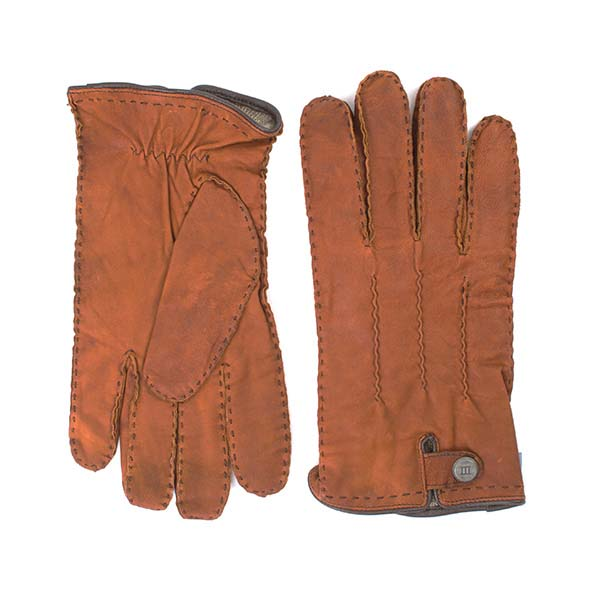 Gloves brown sheep leather