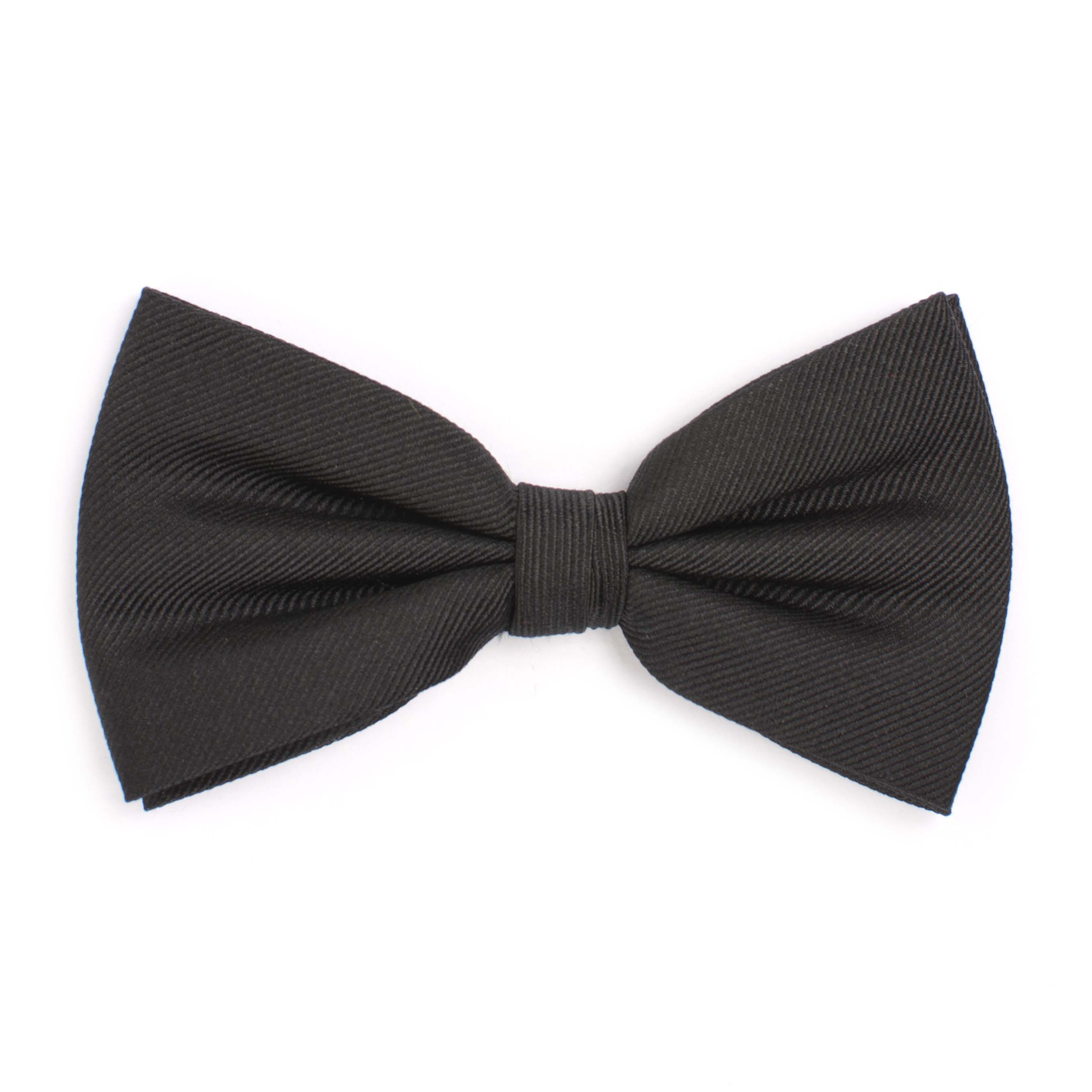 Bow tie classic ribbed black