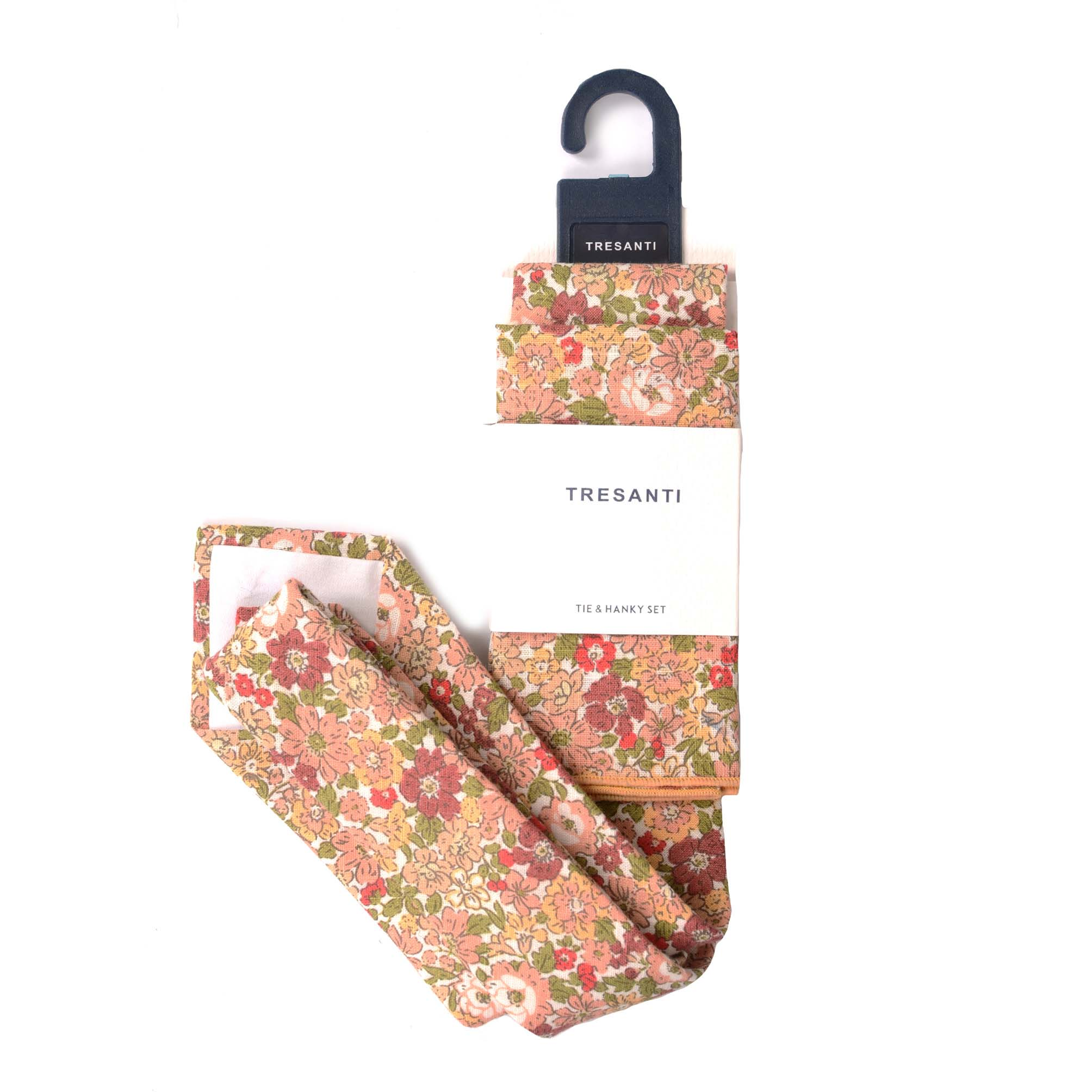 Cotton set tie & hanky  flower design