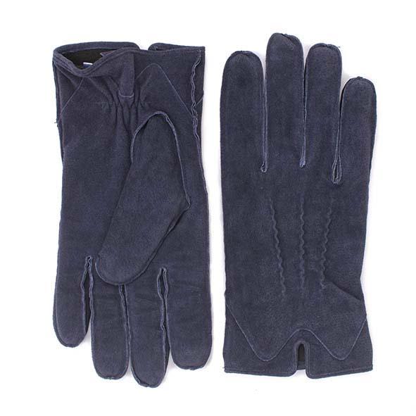 Gloves navy suede