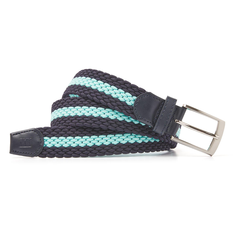 Mees | Belt braided navy/aqua