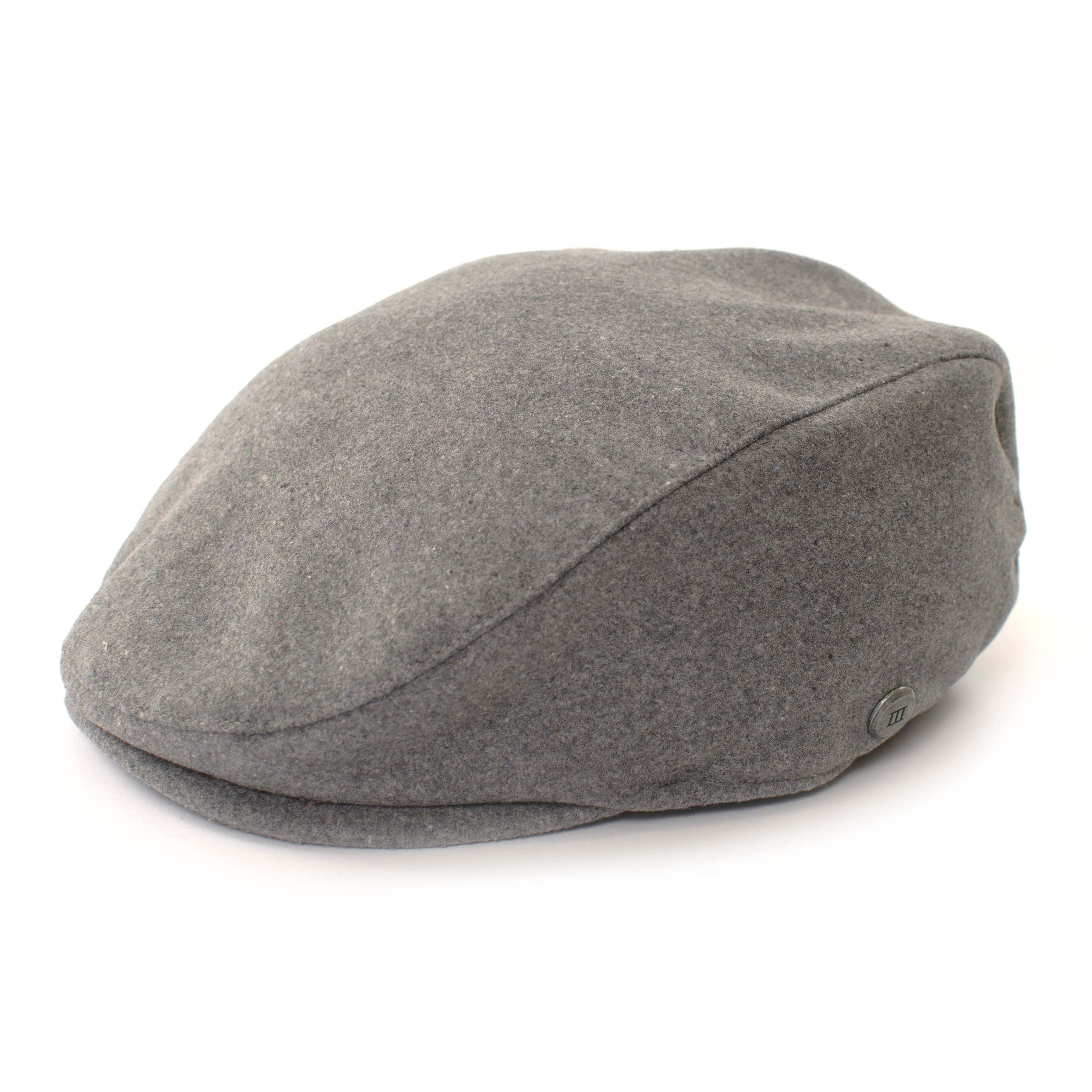 Flatcap grey in wool look